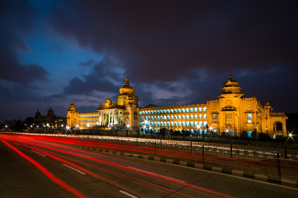 Bangalore Vidhan Soudha at night
