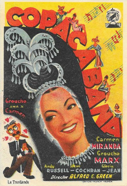 Copacabana - Programa de Cine - Carmen Miranda - Groucho Marx
