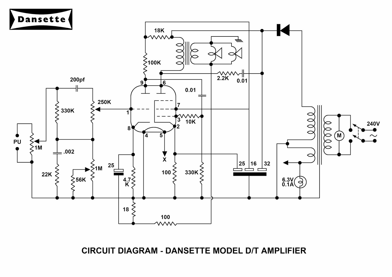 Dansette Workshop A4 Circuit Diagrams For Mc And Dt