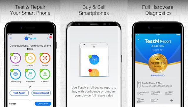 افضل تطبيق لفحص أعطال هواتف iPhone المستعملة تطبيق TestM