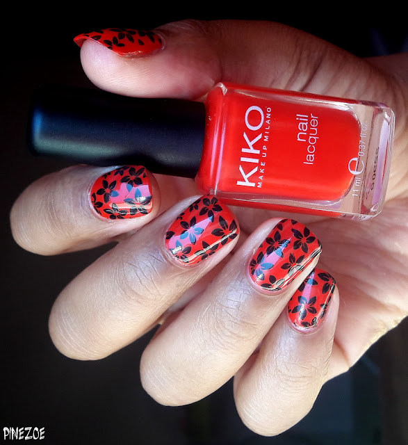 Kiko #236 Orange Red et stamping BPL001