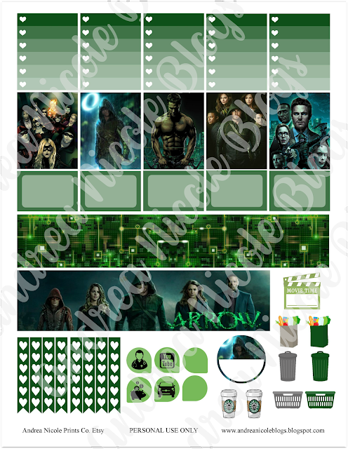 FREE Printable ARROW TV Show Planner Stickers