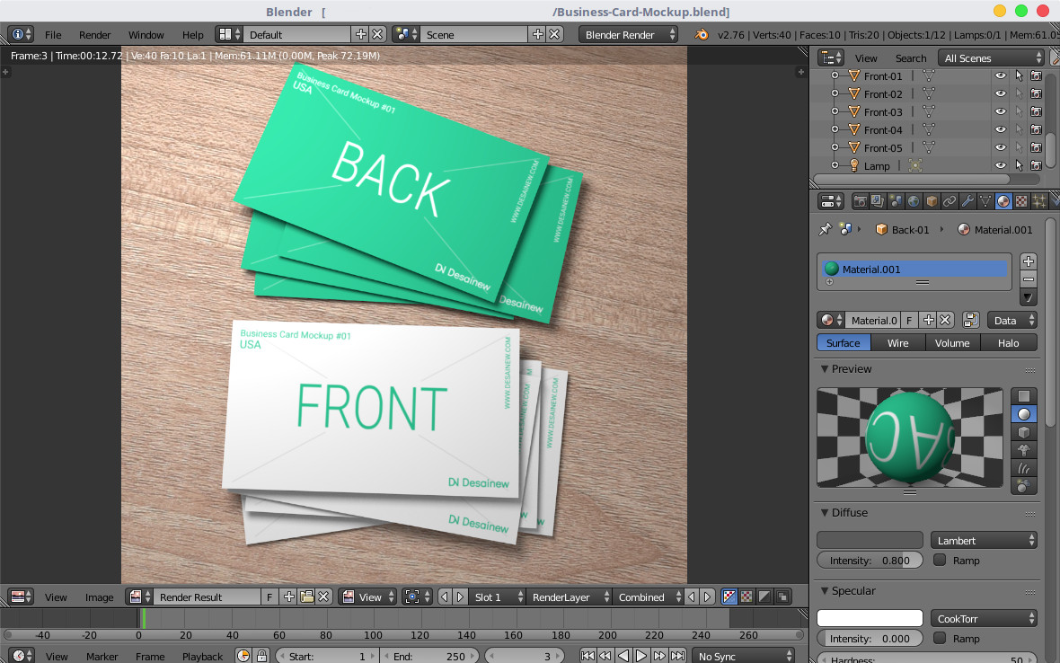 Business Card mockup free download Blender PSD Adobe Photoshop