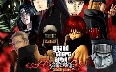 GTA San Andreas Mod Naruto V5 Final Apk+Data Obb Android Terbaru