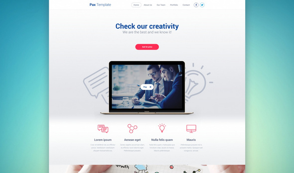 Pax Template – Free Web PSD