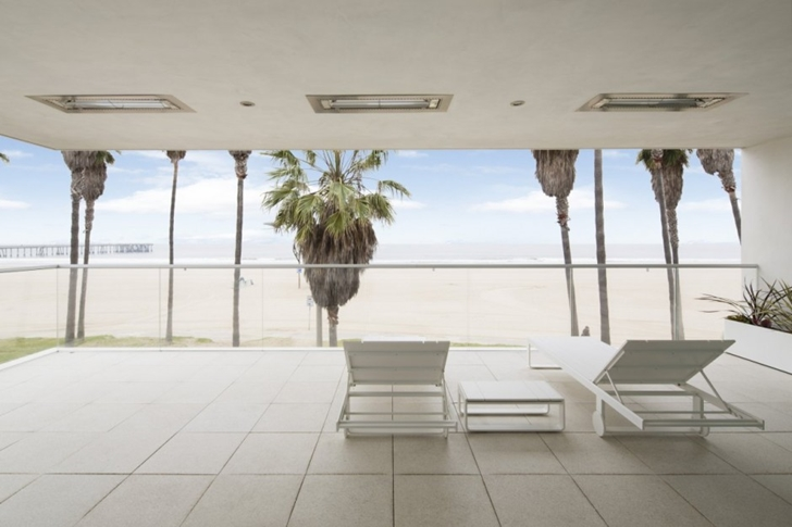 Beach view from Modern mansion on the beach by Dan Brunn