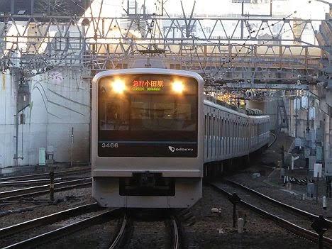 小田急電鉄 急行 小田原行き2 3000形(2018年までのEXPRESS表示)