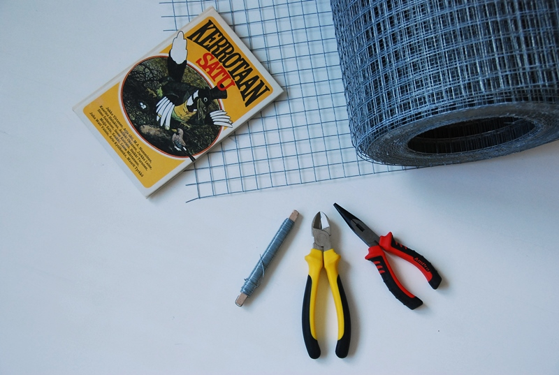 DIY: Wire basket - metalliverkkokori