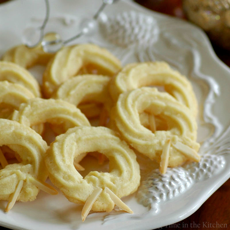Savoring Time In The Kitchen Danish Almond Wreath Cookies