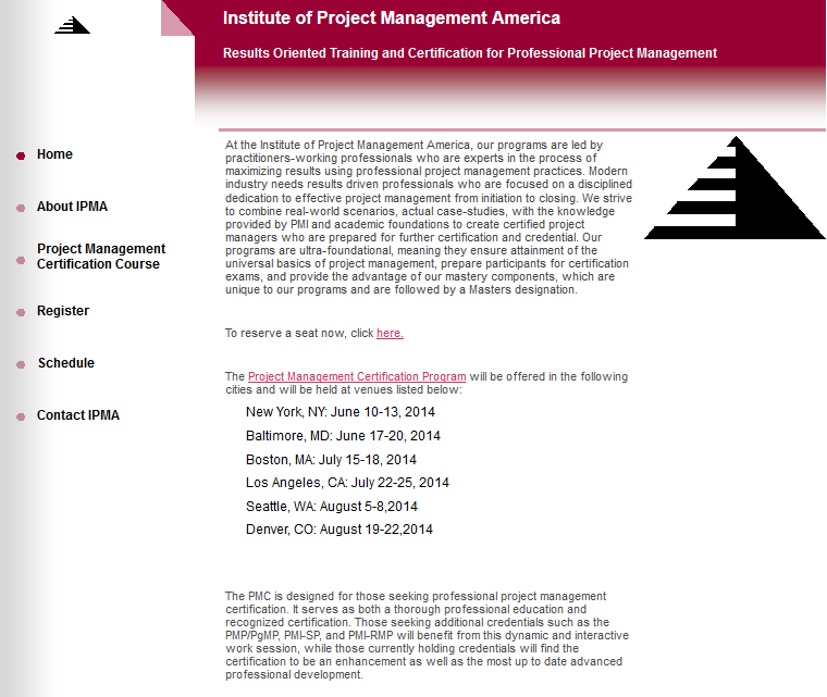 Dynamoo\'s Blog: Institute of Project Management America ...