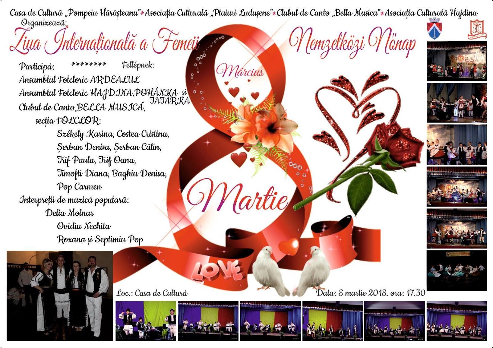 be08bfc414 Marosludas Oldala: Március 8 - Nemzetközi Nőnapi rendezvény