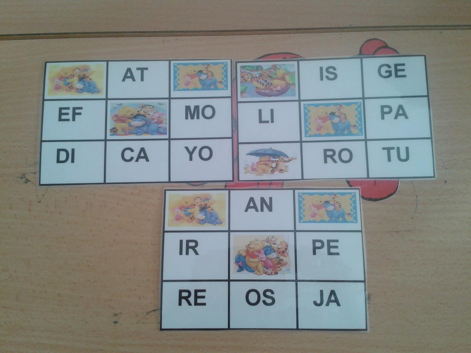 Recursos para Docentes: Bingo de sílabas