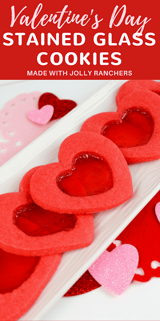 Valentine's Day Heart-Shaped Stained Glass Cookies