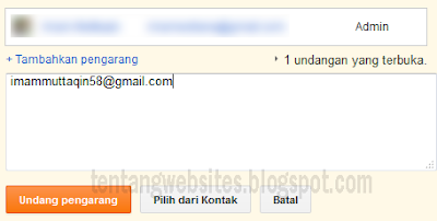 Cara Mengganti admin Blog