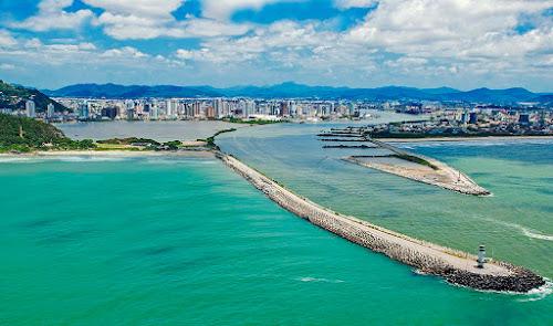 Imagem aérea de Itajaí