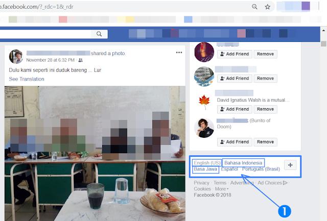 mengubah bahasa di facebook, cara mengubah bahasa di facebook, cara mengubah bahasa di facebook lewat hp, cara mengubah bahasa inggris ke indonesia di facebook