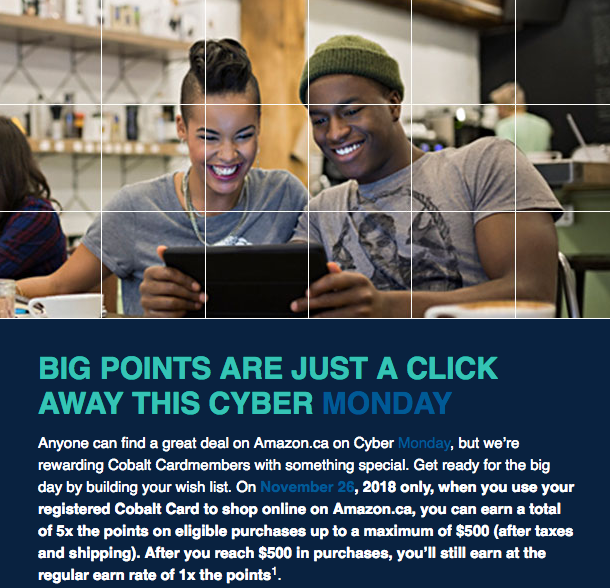 Rewards Canada: November 21 Update: 5x points with the Amex