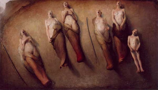 Singing women, Odd Nerdrum, Macabre Art, Macabre Paintings, Horror Paintings, Freak Art, Freak Paintings, Horror Picture, Terror Pictures