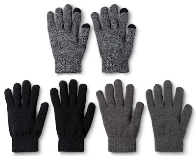 Mossimo 3-Pack Tech Touch Gloves $4 (reg $9)