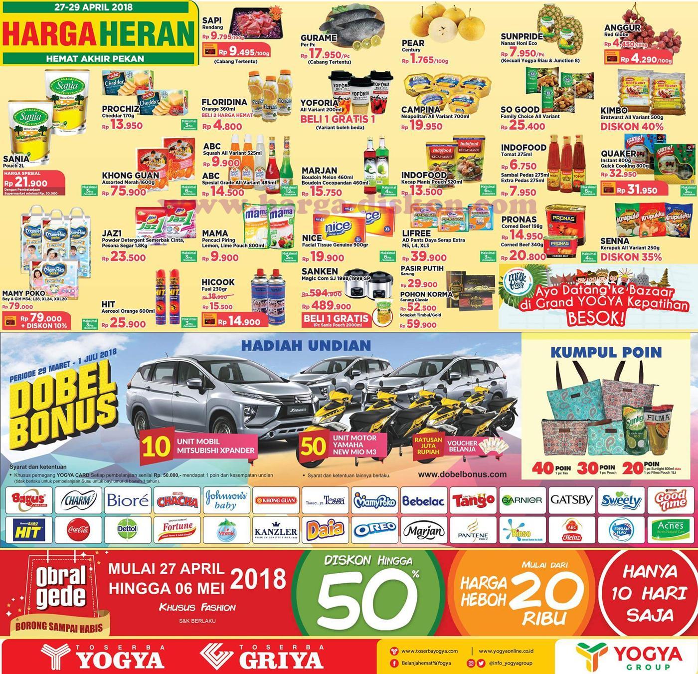 Harga Promo Toserba Yogya Jsm Akhir Pekan Periode 27 29 April 2018 News And Talking