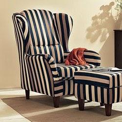 ohrensessel mit hocker. Black Bedroom Furniture Sets. Home Design Ideas