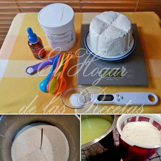 Utensilios y productos necesarios para hacer queso fresco