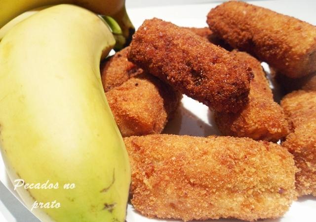 Banana frita panada