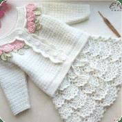 Falda de niña a crochet