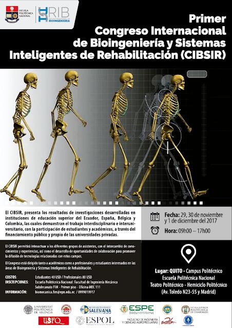 Primer Congreso Internacional de Bioingeniería y Sistemas Inteligentes de Rehabilitación (CIBSIR)