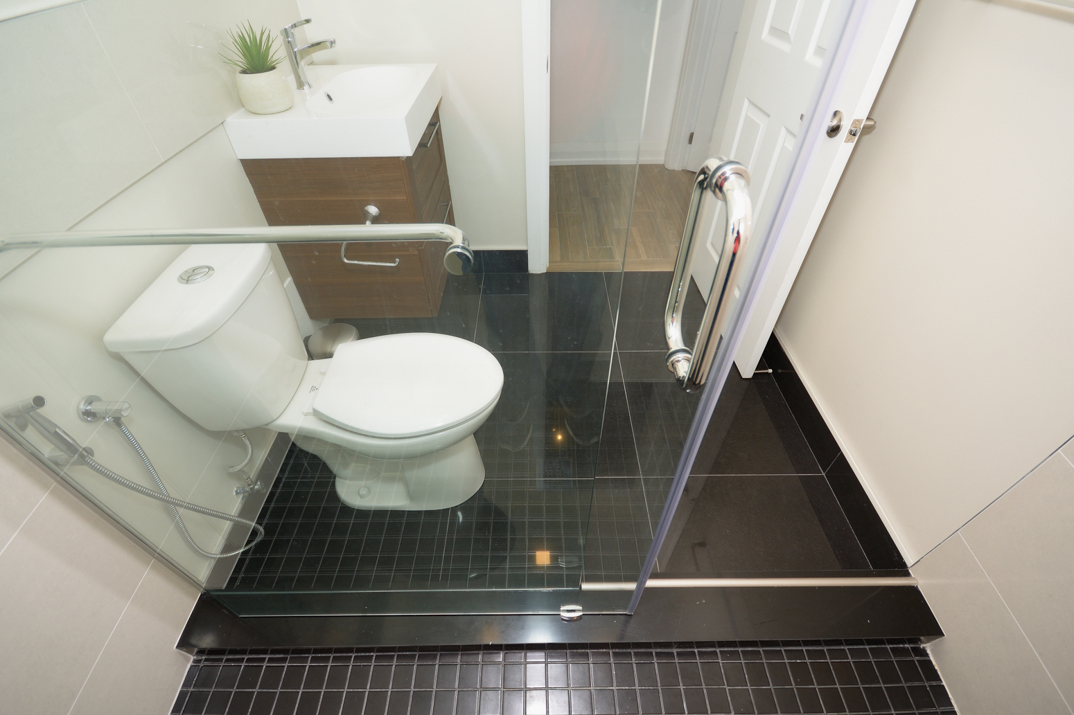 one piece curb shower stall step