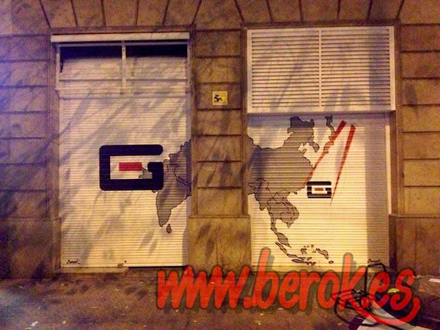 graffiti persiana Fugu Mollet del vallés