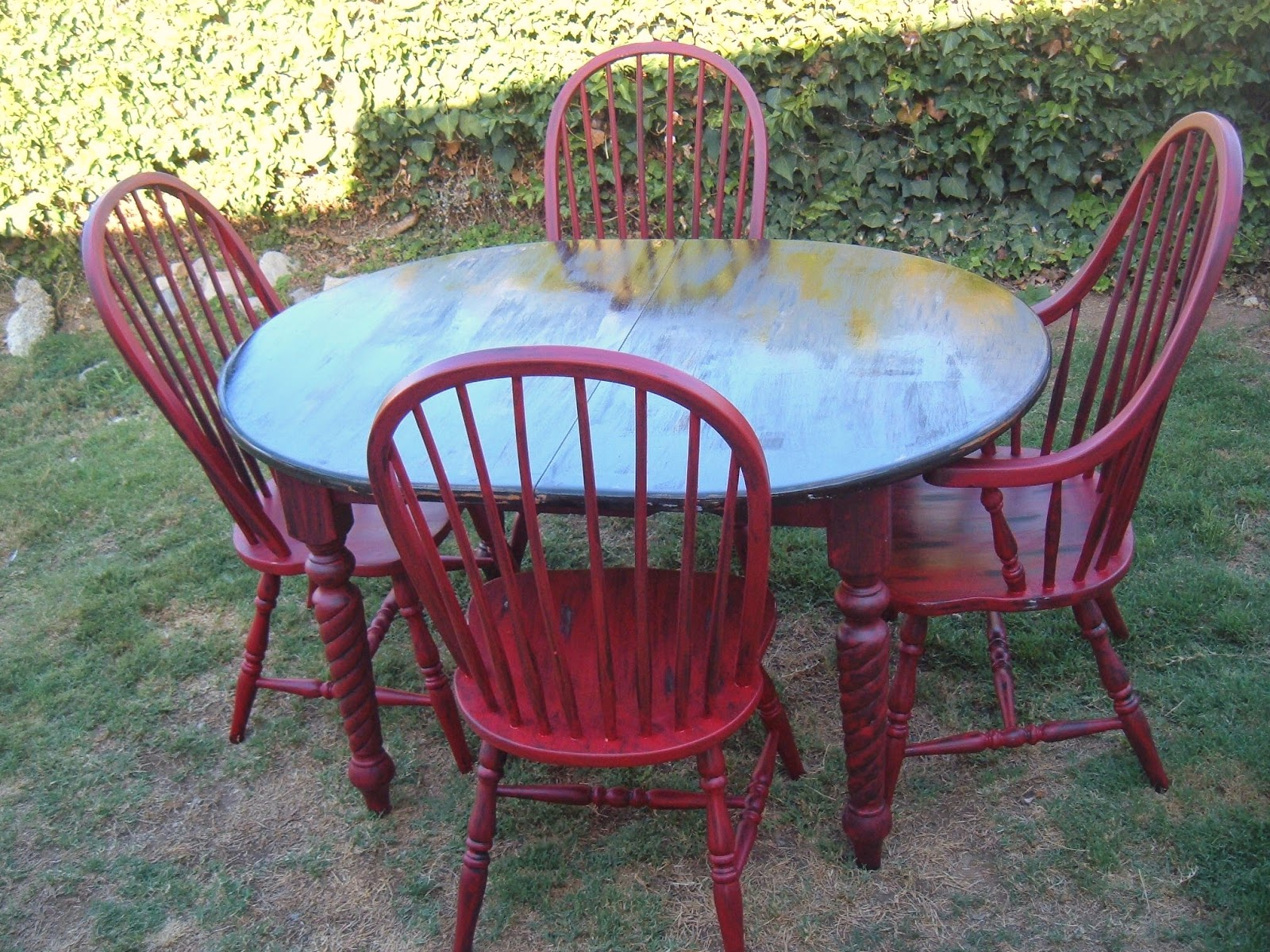 Red And Black Table Chairs Diy Today S Doins