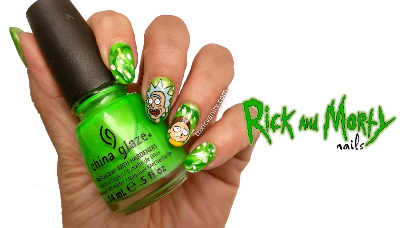 Manicura Rick And Morty | Nail Art Netflix | Toxic Vanity | Bloglovin\'
