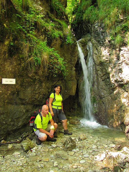 Wodospad Skalny (słow. Skalný vodopád).