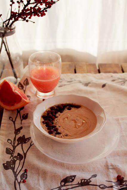 Smothie bowl de  pomelo y avena