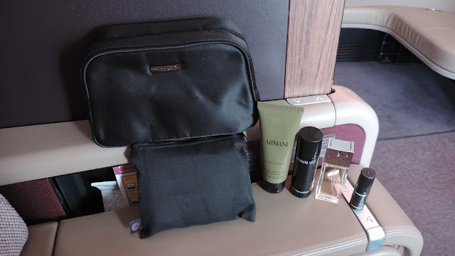 16e82afa9c4 I also got the male amenity kit featuring a Giorgio Armani bag