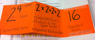Image result for exponents foldable