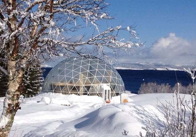 15-Hjertefølgers-Architecture with a Cob House built in a Geodesic Dome in the Arctic Circle