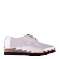Pantofi dama casual argintii la moda la pret mic