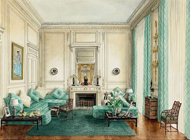 Alexandre Serebriakoff [Acuarela, Interiores]