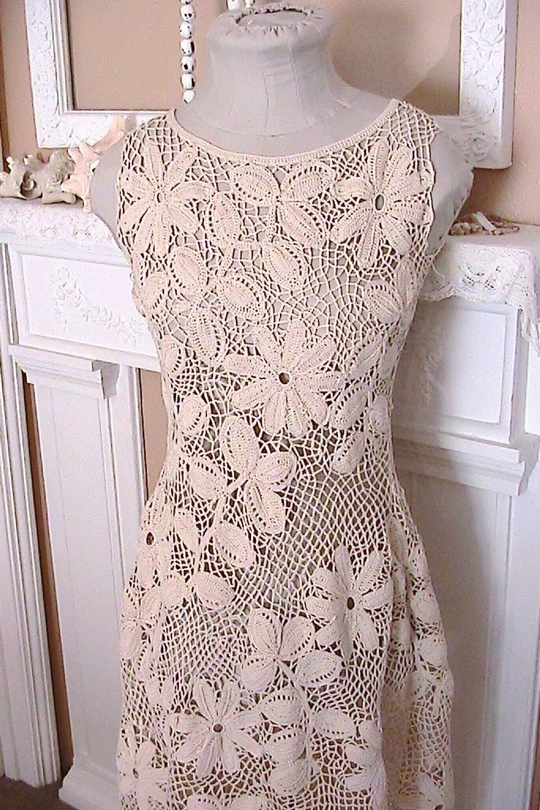Katty S Cosy Cove Making An Irish Crochet Dress