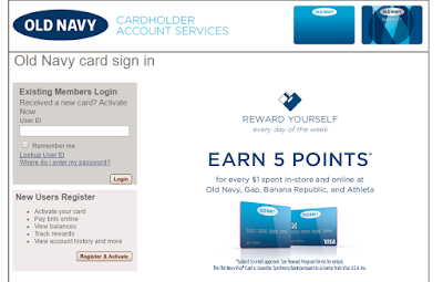 Old Navy Credit Card Login and Payment
