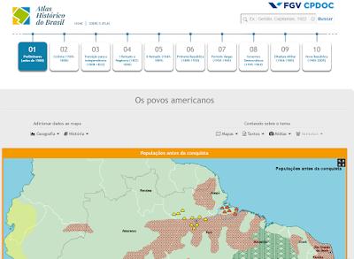 FGV lança novo Atlas Histórico interativo online e gratuito