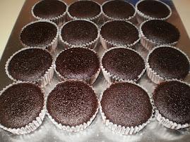 kek cawan coklat mudah dan sedap