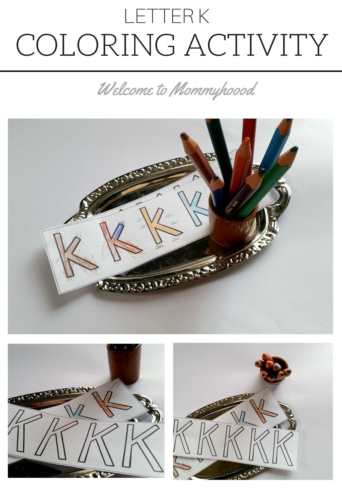 Welcome To Mommyhood Letter Of The Week Hands On Letter Kk Activities