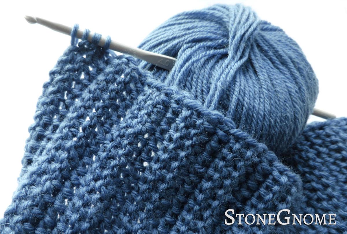 A Springy New Crochet Ribbing - StoneGnome