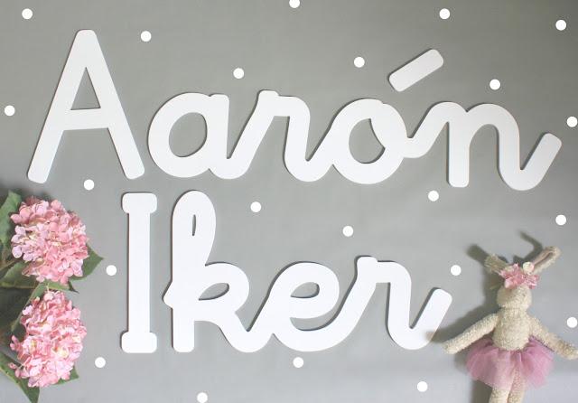 Letras/nombres infantiles para la pared - decoración infantil personalizada