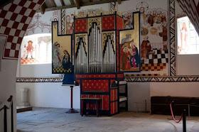 The St Teilo organ in situ in St Teilo's Church at St Fagans