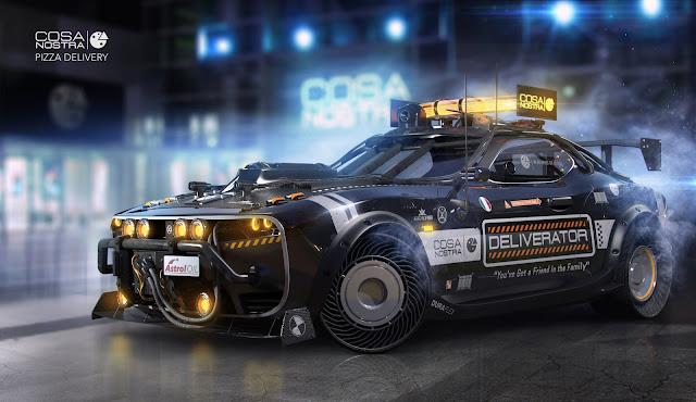 Deliverator Vehicle from Neal Stephenson's Snowcrash. Concept Illustration by Igor Sobolevsky