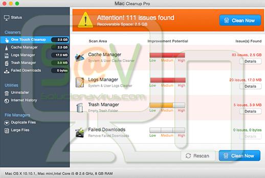 Mac Cleanup Pro (Falso optimizador)